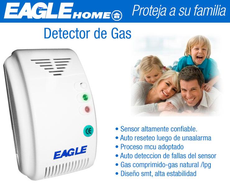 Alarma detector de gas natural o envasado a 12 volts for Detector de gas natural