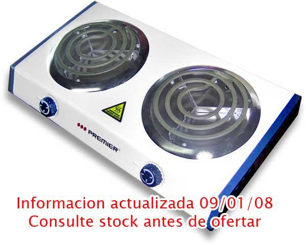 Cocina electrica anafe premier doble hornalla bajo consumo for Cocina electrica consumo