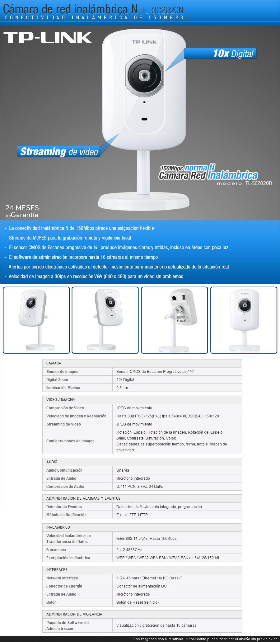 Camara de vigilancia ip tp link tl sc2020n inalambrica - Camara de vigilancia ip wifi ...